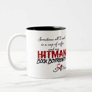 Tasse Kaffee-u. Hitman-Buch-Freunde