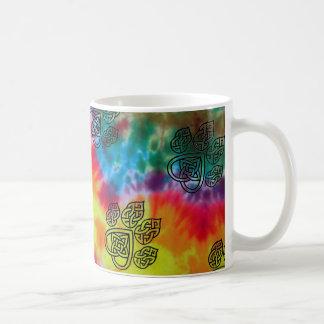 Tasse, keltischer Knoten, Batik - Design, Hund Kaffeetasse