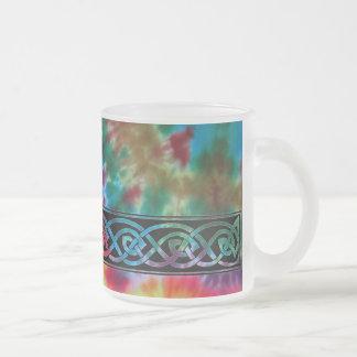 Tasse, keltischer Knoten, Batik-Design Mattglastasse