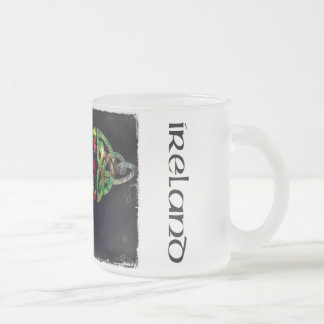 Tasse, keltischer Knoten, Irland, bunt Mattglastasse