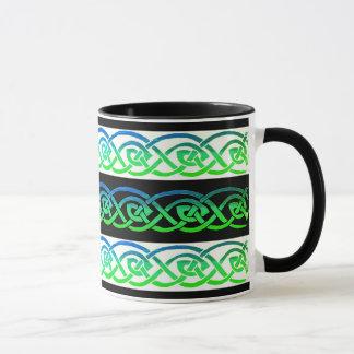 Tasse, keltischer Knoten, schwarz/weiß, bunt Tasse