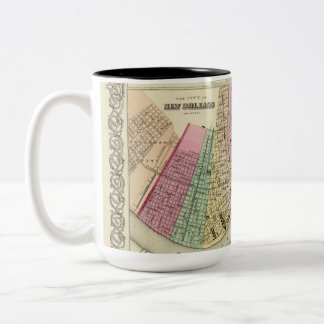 Tasse mit Baumwollkarte 1956 von New Orleans