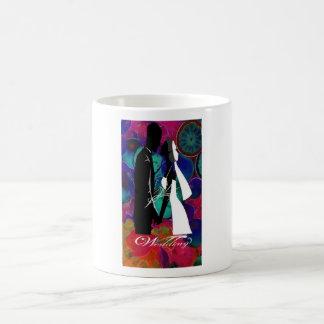 Tasse mit Blume für Hochzeiten