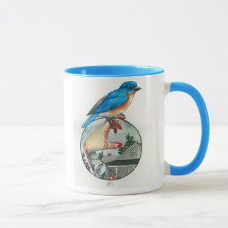 "Tasse ""Oiseau bleu oriental """