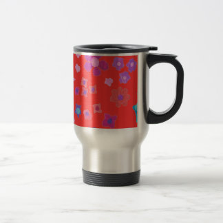 Tasse rouge assez lumineuse de voyage de Flower po