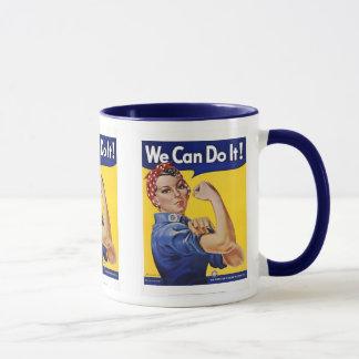 Tasse: Wir können sie tun - Vintages Plakat-Bild Tasse