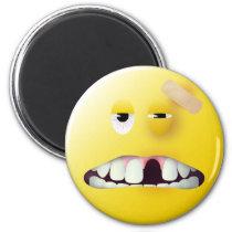 Tassen-Schuss-Smiley Runder Magnet 5,1 Cm