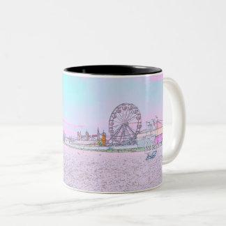 Tassen-Strand-Karneval Zweifarbige Tasse