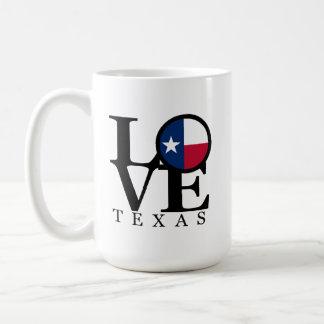 Tassen-Weiß LIEBE Texas 15oz Tasse