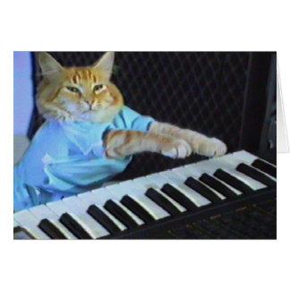 Tastatur-Katzen-Gruß-/Weihnachtskarten! Karte