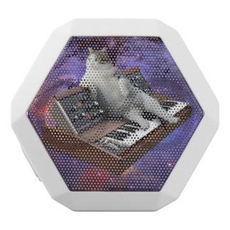 Tastaturkatze - Katze memes - verrückte Katze Weiße Bluetooth Lautsprecher