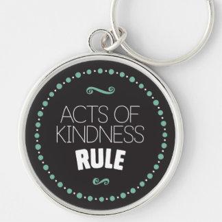 Taten der Güte-Regel - Schwarzes Schlüsselanhänger
