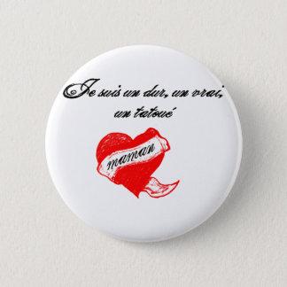 tatoo love mum runder button 5,1 cm