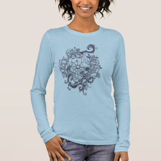 tatoo skull style langarm T-Shirt