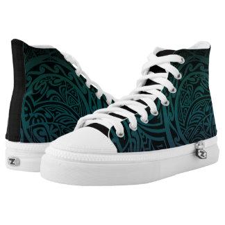 Tatou V - Aquamarine u. lila Hoch-Spitze Hoch-geschnittene Sneaker