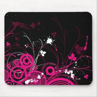 Tatouage de noir et de rose tapis de souris