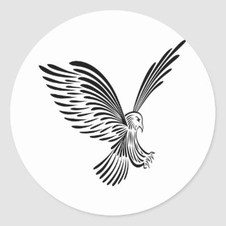 Tatouage tribal blanc Eagle Adhésifs Ronds