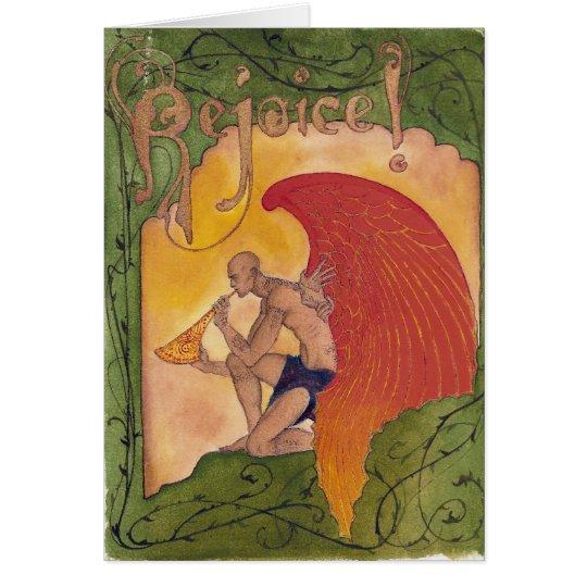 Tätowierungs-Engel 1 Grußkarte