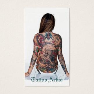 Tätowierungs-Künstler Visitenkarte