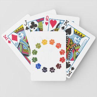 Tatze druckt Kreis Pokerkarten