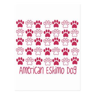 Tatze durch Tatzen-amerikanischen Eskimohund Postkarte