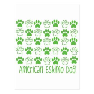 Tatze durch Tatzen-amerikanischen Eskimohund Postkarten
