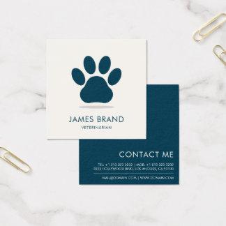 Tatzen-Druck-Tierpflege Quadratische Visitenkarte