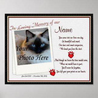 Tatzen-Drucke auf meinem Herz-Haustier-Denkmal - H Poster