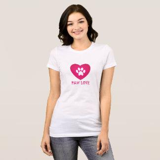 Tatzen-Liebe-Rosa T-Shirt