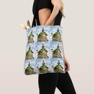 Taube auf Saguaro-Kreuz-Körper-Tasche Tasche