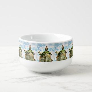 Taube auf Saguaro-Suppen-Tasse Große Suppentasse