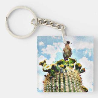 Taube auf Saguaroschlüsselkette Schlüsselanhänger