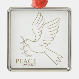Taube des Friedens Silbernes Ornament