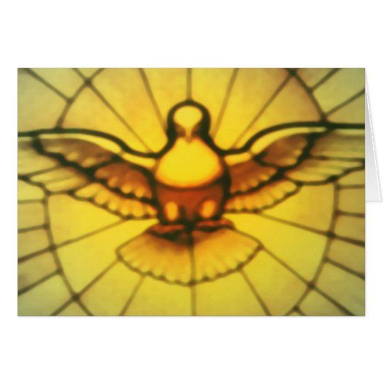 Taube des Heiliger Geist Grußkarte