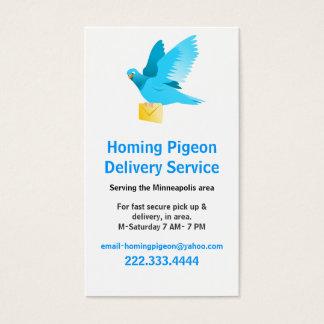 Taube mit Buchstabe-Visitenkarte Visitenkarte