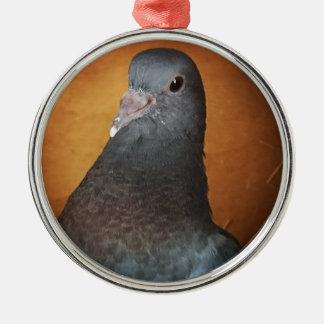 Taube Rundes Silberfarbenes Ornament