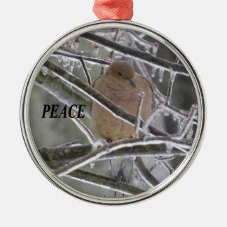 Taube Silbernes Ornament