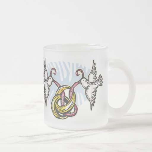 Tauben-Gastgeschenke Hochzeit Teetasse