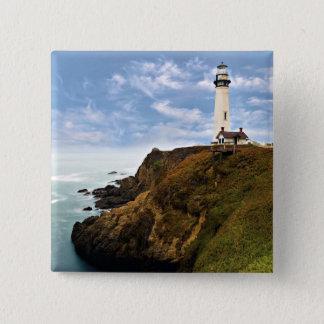 Tauben-Punkt-Leuchtturm   Kalifornien Quadratischer Button 5,1 Cm