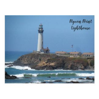 Tauben-Punkt-Leuchtturm Postkarte