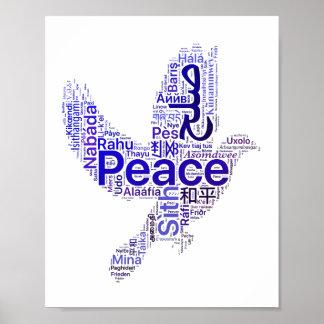Tauben-Wort-Kunst-Frieden Poster