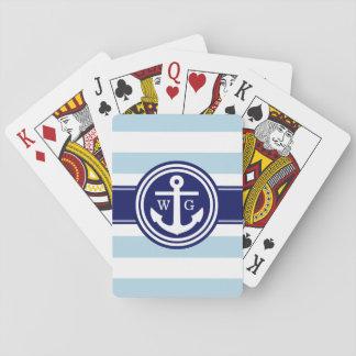 Taubenblaue Marine-adrettes Spielkarten