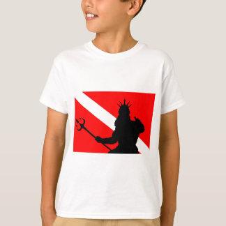 Tauchen-Flagge Poseidon II ` T-Shirt
