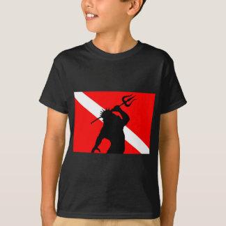 Tauchen-Flagge Poseidon T-Shirt