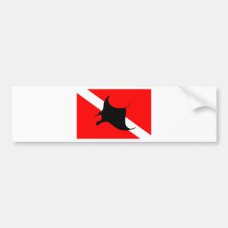 Tauchen-Flaggen-Mantarochen Autoaufkleber
