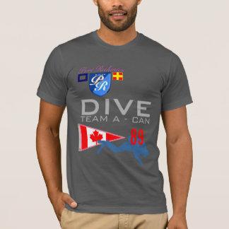 Tauchen-Team ein Tauchen KANN Kanada-Flagge Nr. 89 T-Shirt