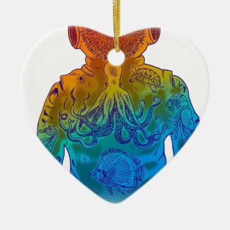 Taucher Keramik Herz-Ornament