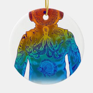 Taucher Rundes Keramik Ornament