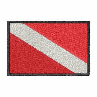 Tauchflagge Bestickte Fleece Track Jacke