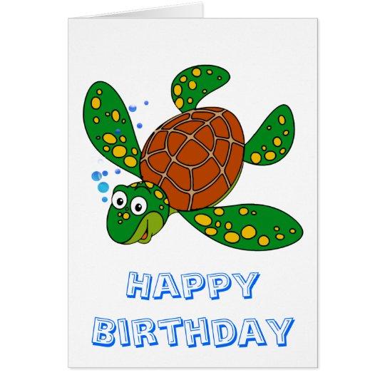 TauchMeeresschildkröte-Geburtstag Grußkarte